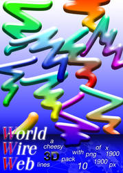 Word Wire Web - a Cheesy 3D Lines Pack for Net Art