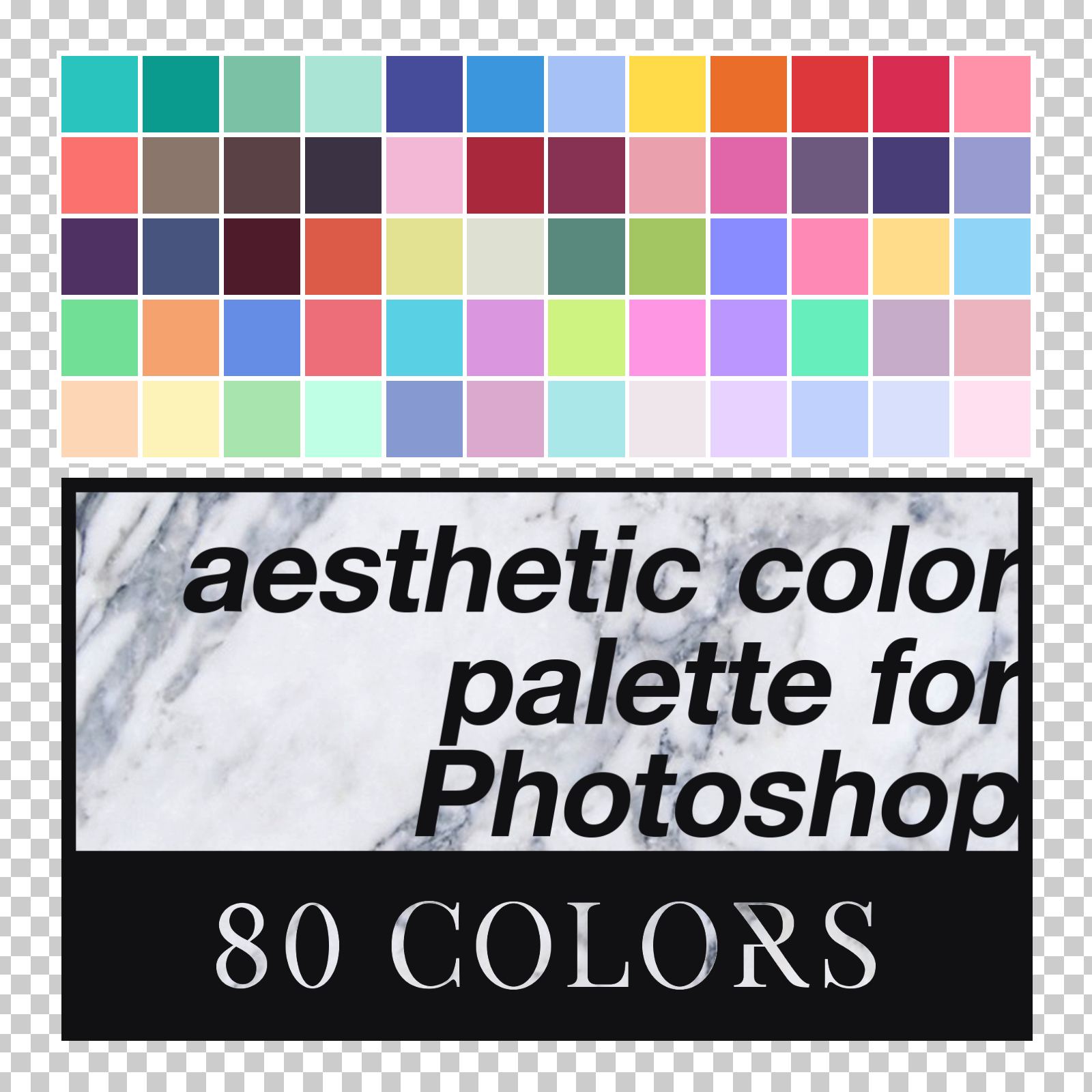 aesthetic color palette for photoshop by louann1812 on deviantart