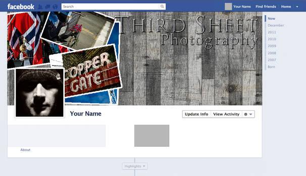 Wood BG Photo FB Timeline Template