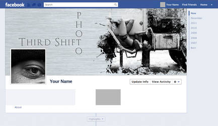 Steel BG  Facebook Timeline Template