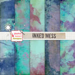 Inked Mess FREEBIE - Digital Papers/Textures :)
