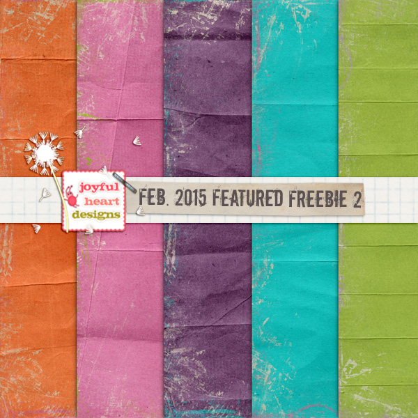 Featured Freebie from Feb. 2015 - TWO :) by JoyfulHeartDesigns