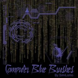 Computer Blue by SimiLomo