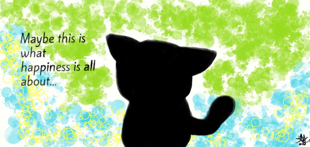 Black cat's theory of happiness by Katsuya1100