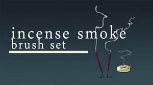Incense smoke brush set