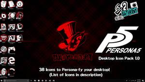 Persona 5 Desktop Icon Pack (Version 1.0)