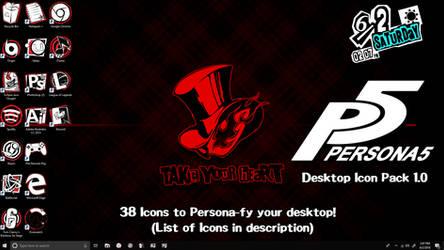 Persona 5 Desktop Icon Pack (Version 1.0) by FrozenVayne