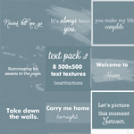 Text pack 3