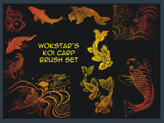 Koi Carp Brushes by wokstar