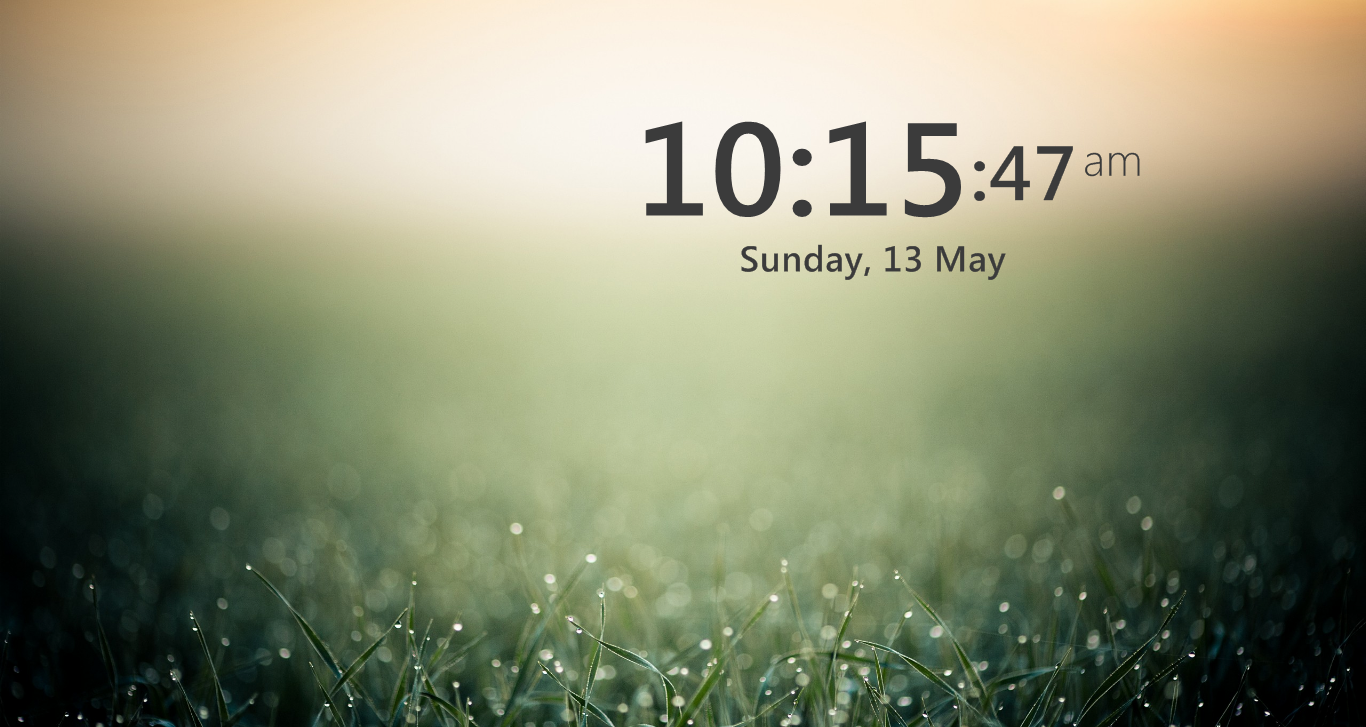 digital clock wallpaper