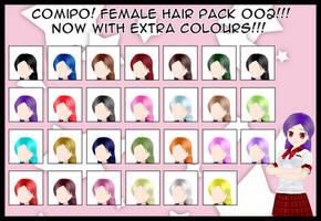 Female Hair Pack - 002 by NadeHakashi