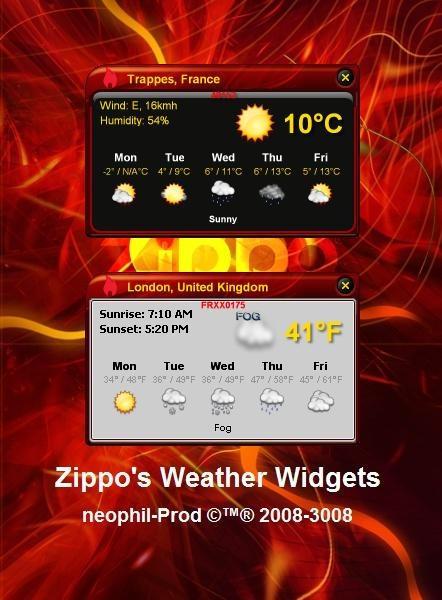 Zippo Weather Widget by neophil