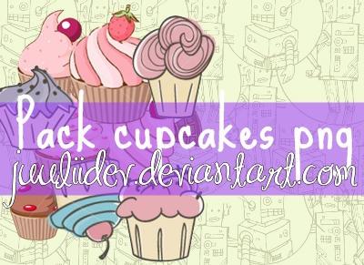 Pack Cupcakes png by JuuLiiDev