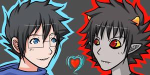 HS - JohnxKarkat - animated icons