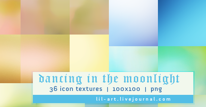 Icon Textures - Set 003 - Dancing in the Moonlight by justalittlefaith