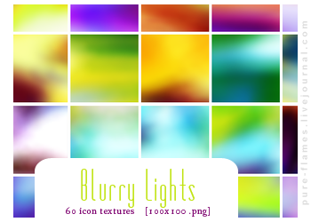 Icon Textures - Set 007 - Blurry Lights by justalittlefaith