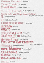 Anime Fonts -updated