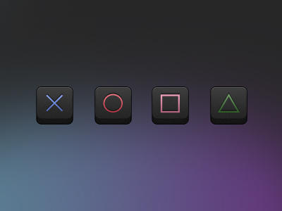 Playstation Icons by FBED