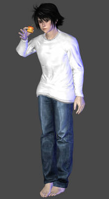 Death Note - L (Ryuzaki) Default Outfit DL