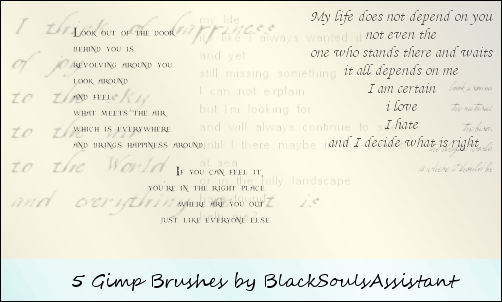 Large Text Gimp Brushes by BlackSoulsAssistant