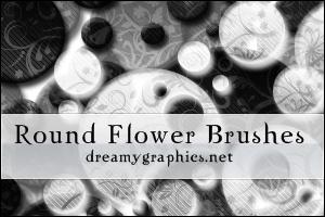 Round Flower Brushes For Gimp by inge123