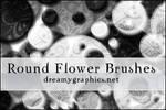 Photoshop Round Flower Brushes