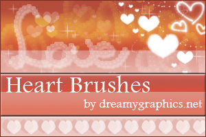 Heart Brushes For Gimp by inge123