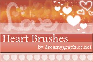 Heart Brushes For Gimp by inge123