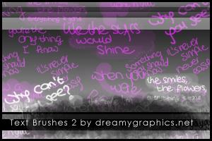 Textbrushes 2 for Photoshop by inge123