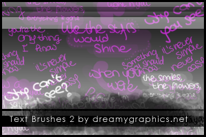 Textbrushes 2 for Gimp by inge123