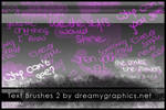 Textbrushes 2 for Gimp
