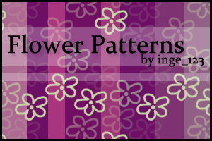 Flower Patterns for photoshop by inge123