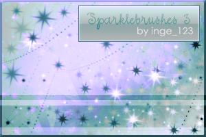 Sparkle Brushes 3 photoshop by inge123