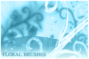 Floral Brushes For Photoshop by inge123