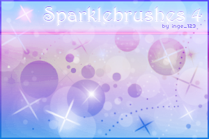 Sparkle Brushes 4 for Gimp by inge123