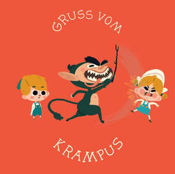Krampus Helps the Children Behave