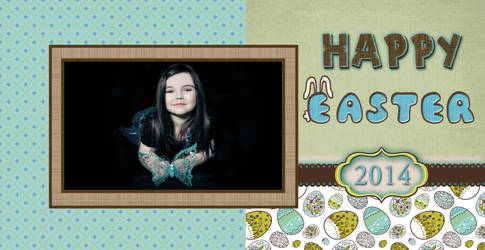 Free Blank and Easter Card - PNG and PSD