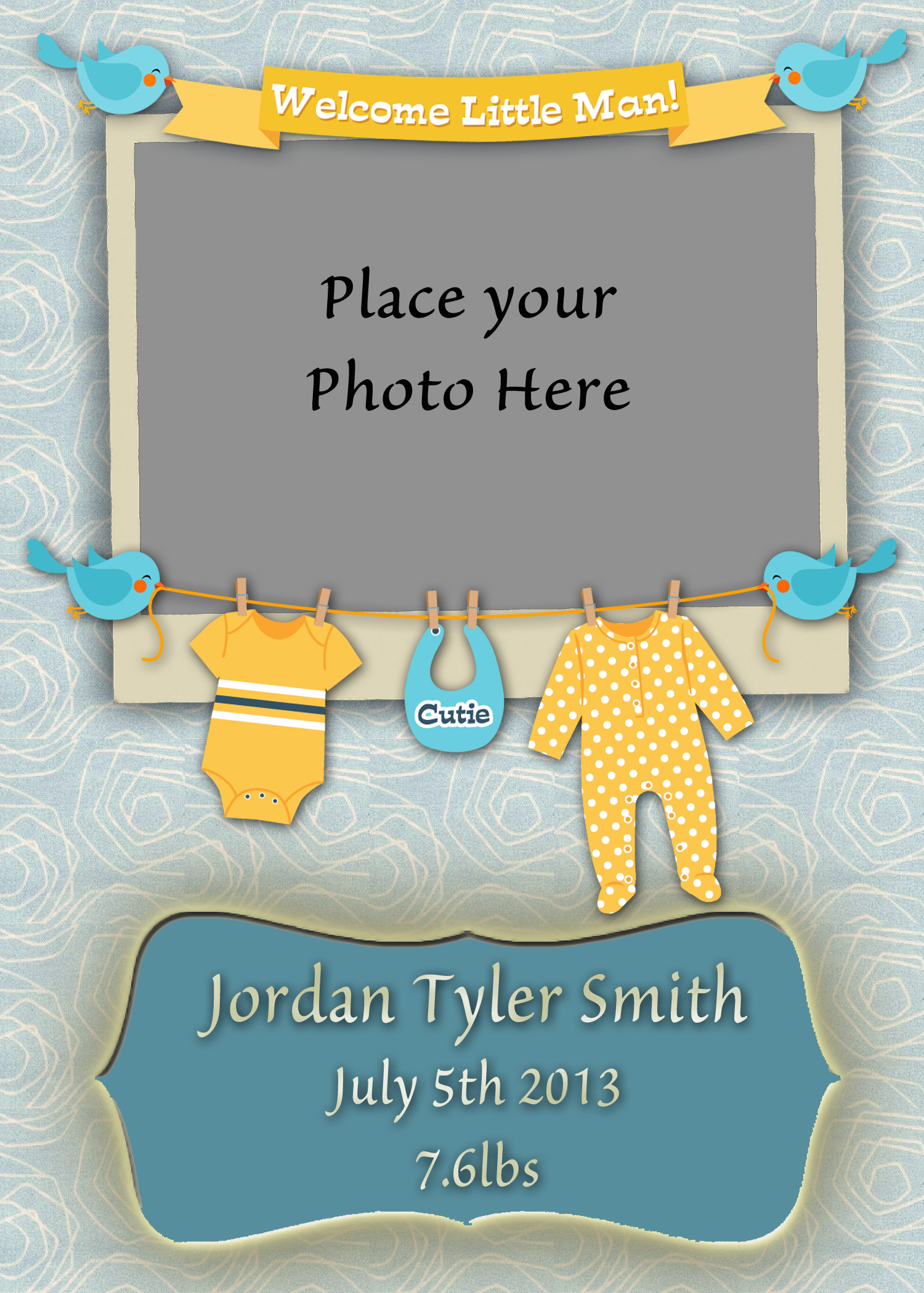 Welcome Baby Boy Quotes For Newborn: 5x7 Welcome Baby Boy Card 1 By BlissfuLLimaging On DeviantArt