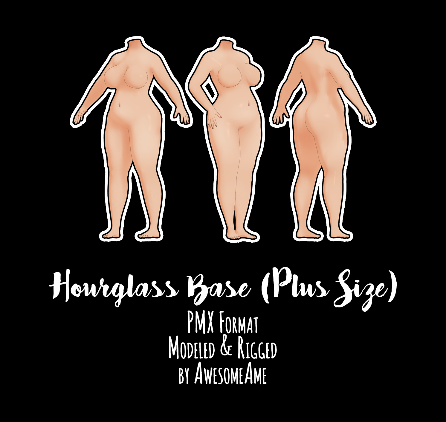 Mmd Hourglass Plus Size Download Moved Update By Awesomeame On Deviantart