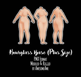MMD    Hourglass Plus Size  Download (Moved/Update by AwesomeAme