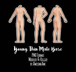 MMD   Young Thin Male Base   Download by AwesomeAme