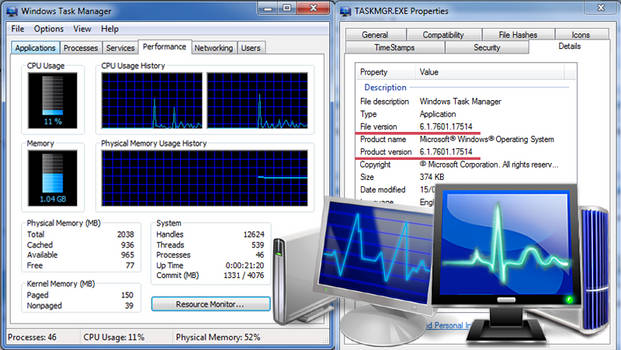 Win 7 SP1 Blue Task Manager
