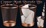 Copper Mesh Recycle Bin