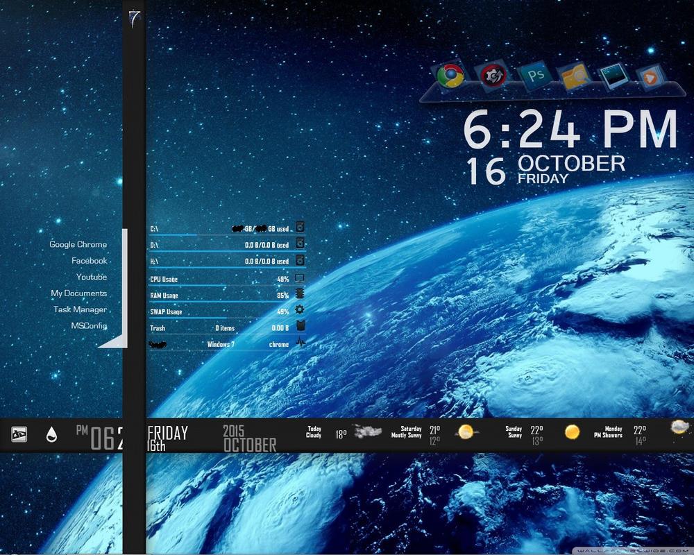 Google chrome themes universe - Ultimate Dark Universe Rainmeter Skin By Hzone007