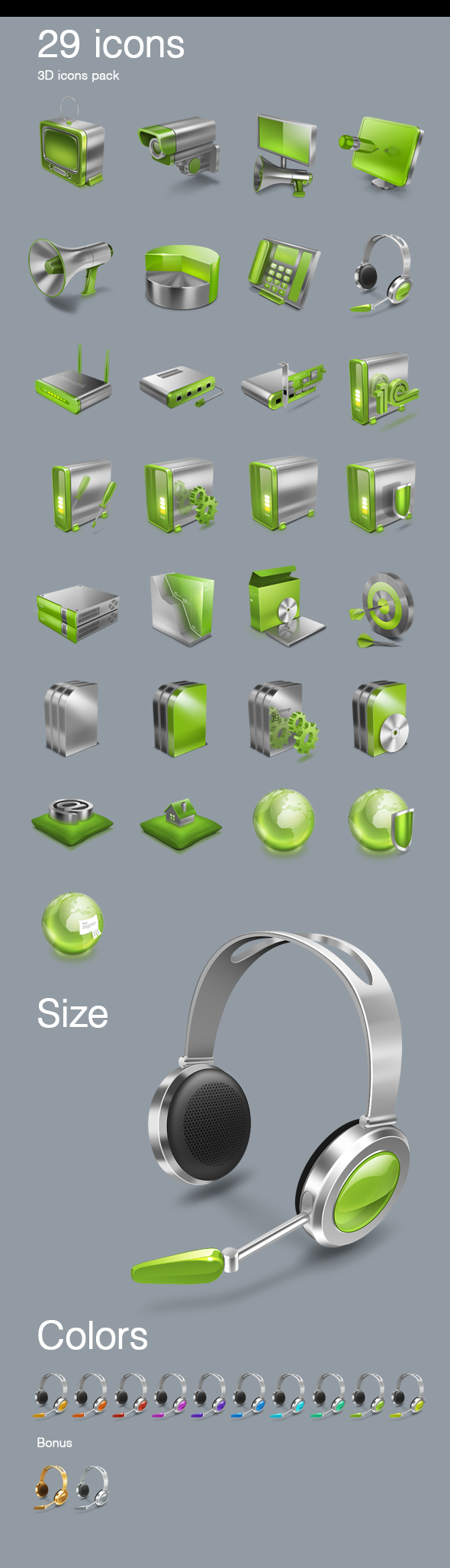 3D glosy icons sale