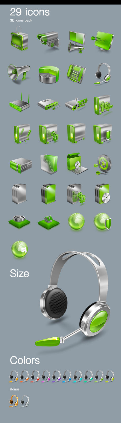 3D glosy icons sale by TIT0