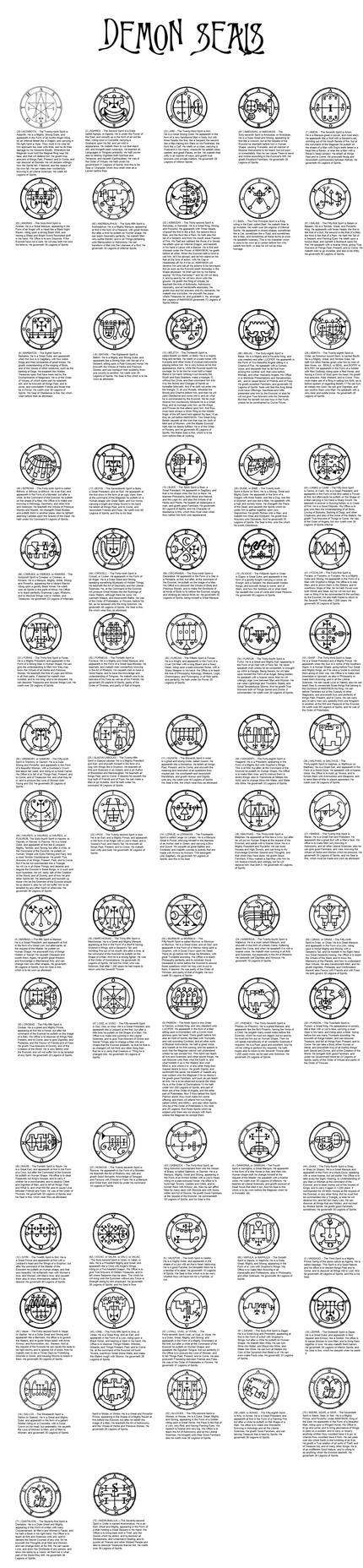Demon Seals by zero0810
