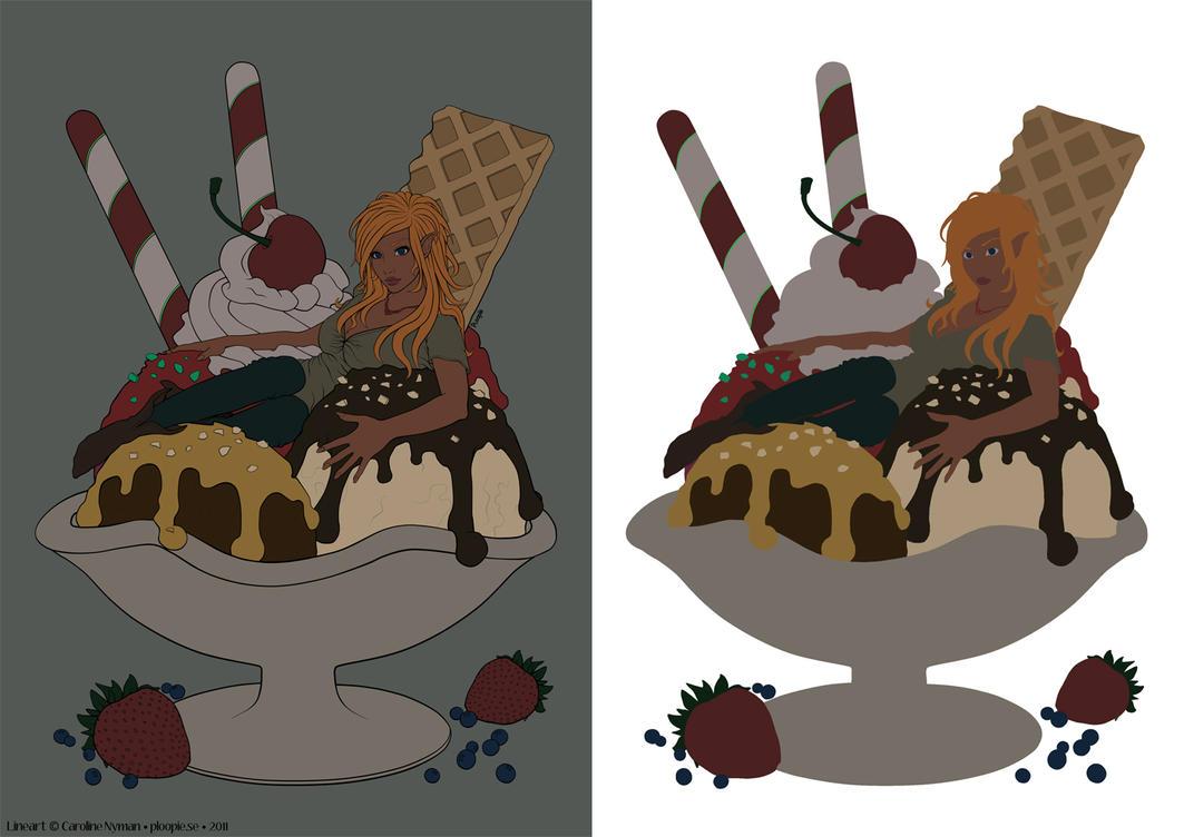 Ploopie's Ice Cream Flat Set by TimareeZadel