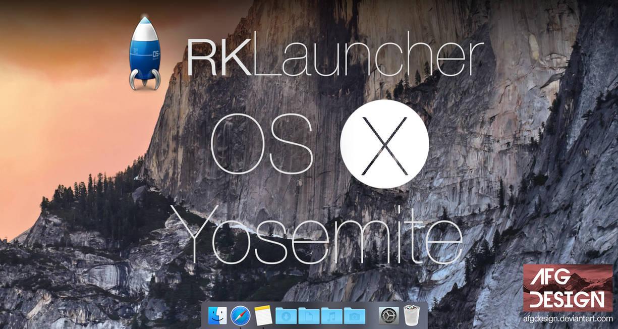 RKLauncher/Rocketdock OS X Yosemite Skin (Updated) by AFGdesign