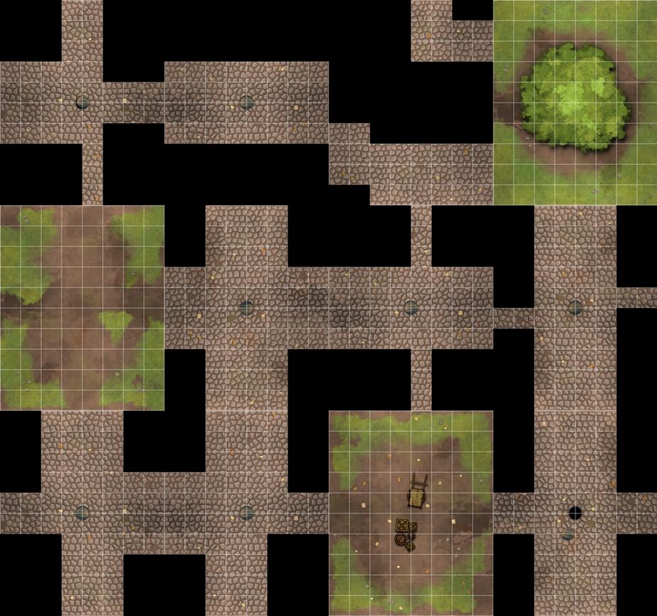 Printable Street Map Tiles PDF by WhoDrewThis